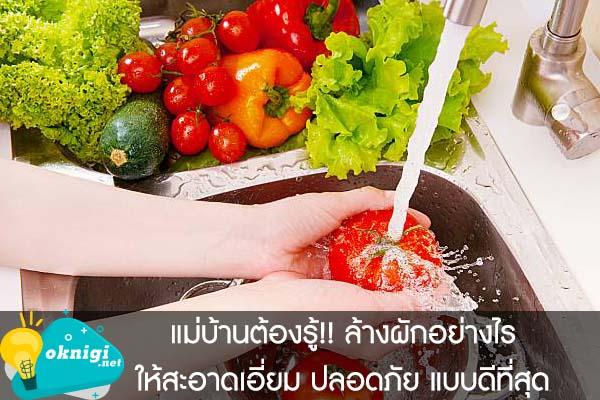 แม่บ้านต้องรู้!! ล้างผักอย่างไรให้สะอาดเอี่ยม ปลอดภัย แบบดีที่สุด